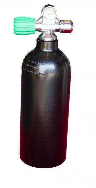 Single AL Cylinder 1,5 liter 230b DivingBreath. Gas, LEFT exp valve+BP EU Nitrox