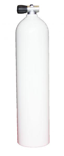 Single AL Cylinder 7 liter white 200 barDiving Breathing Gas, Rebreather Valve