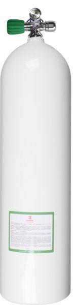 Single AL Cyl. 80cf white (~11,1L) 207bDiv.Breath.Gas, LEFT exp v.+BP EU Nitrox