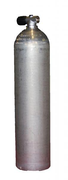 Single AL Cylinder 7 liter silver (Dirty Beast)200 Bar, Diving Breathing Gas, Rebreather Valve
