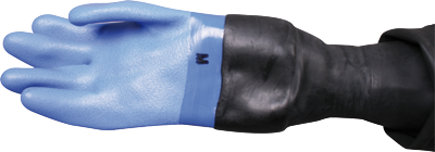 Nordic Blue Dry Gloves w. latex conical wrist seal, lose innerliner