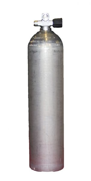 Single AL Cylinder 7 liter silver dirty Beast200 Bar, Right expandable valve, incl. Blind Plug