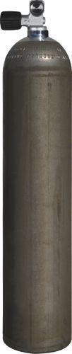 Single Aluminum Cylinder 40cf dirty beast, 5,7 Lit207 Bar, Diving Breathing Gas, Mono Valve