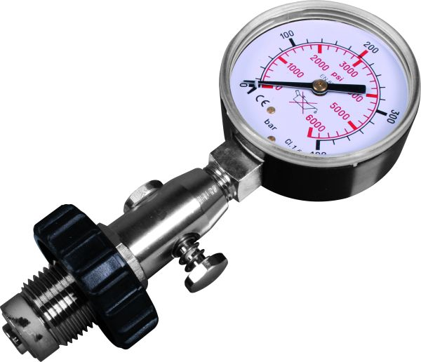 Cylinder pressure testing gaugeDIN, up to 300 bar