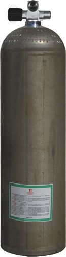 Mono Alu Cyl 80cf dirtyBeast 207b, 11,1 L,Diving Breathing Gas, LEFT exp valve+BP