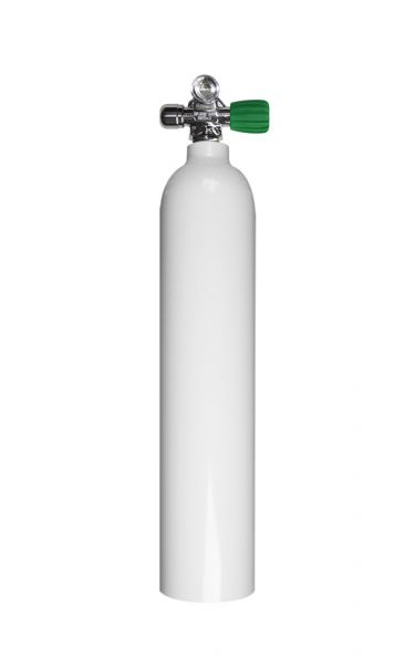 Single AL Cylinder 3 liter 230b DivingBreath.Gas, RIGHT exp valve+BP EU Nitrox