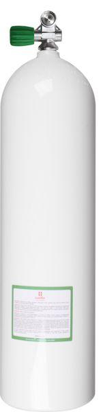 Single AL Cylinder 80cf white (~11,1L)207b, Div. Breath. Gas Mono V. EU Nitrox