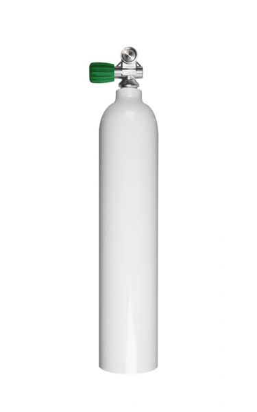 Single AL Cylinder 3 L, 230 bar DivingBreathing Gas, Mono Valve EU Nitrox