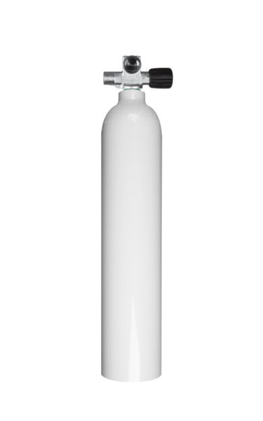 Single AL Cylinder 3 liter 230b DivingBreathing Gas, RIGHT exp. valve +BP