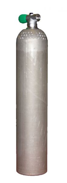 Single AL Cylinder 40cf dirtyBeast(5,7L), 207 BarDiving Breathing Gas, Rebreather Valve EU Nitrox