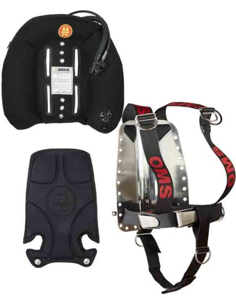 Ocean 60, OMS Back Plate and Harness DIR, OMS Back Pad