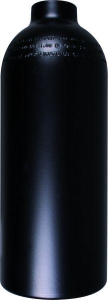 Aluminum Cylinder 1,5 Liter, 230 Bar, 111 mm Diameter, black