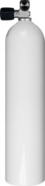 Single AL Cylinder 7 liter white 200 barDiv. Breathing Gas, Mono Valve EU Nitrox