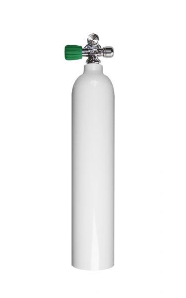 Single AL Cylinder 3 liter 230b DivingBreath. Gas, LEFT exp valve+BP EU Nitrox