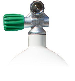 Mono steel bottle of 2 liters - 20 liters (convex / concave) with Monoventil M26 EU NITROX