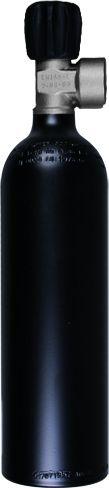Single Aluminum Cylinder 0,85 Liter, 200 Bar, Diving Breathing Gas, Mono Valve G5/8
