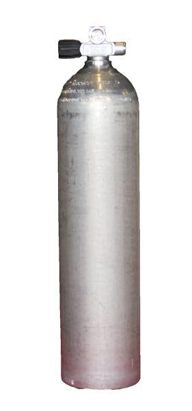 Single AL Cylinder 7 literdirty Beast 200 bar LEFT expandable valve, incl. Blind Plug