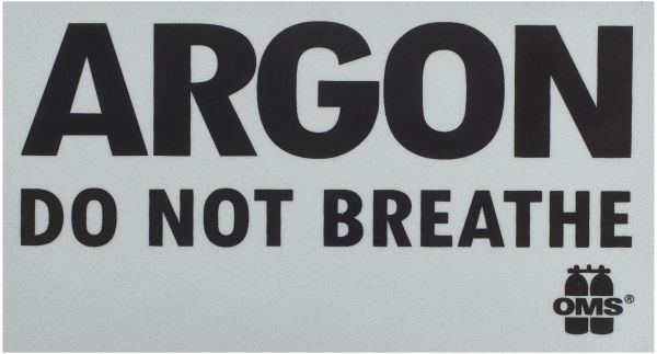 Inert Gas: DO NOT BREATHE warning decal (piece)