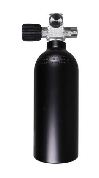 Single AL Cylinder 1,5 liter 230b DivingBreathing Gas, LEFT exp. valve +BP